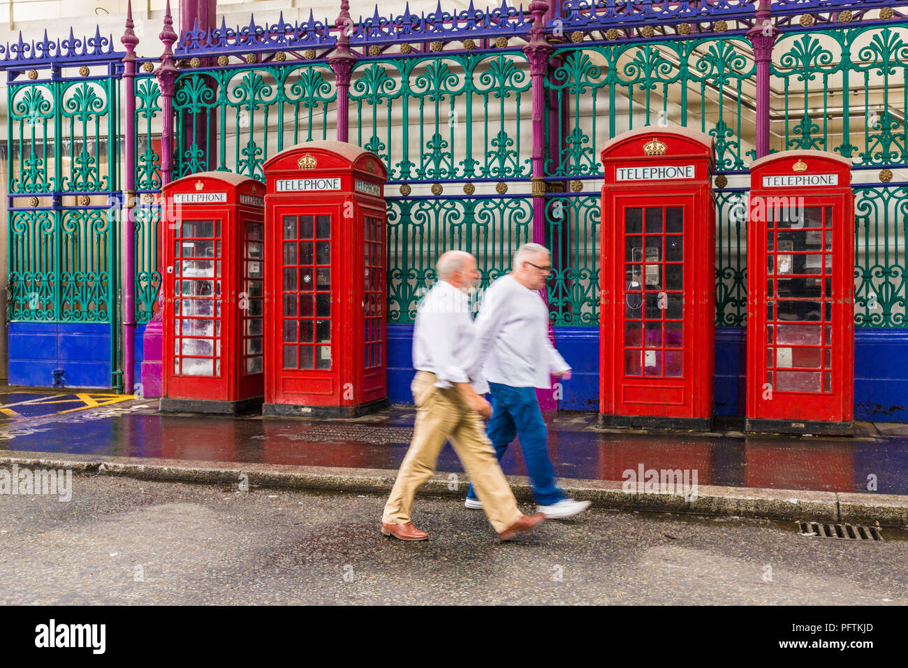 A typical view in central London uk - Stock Image