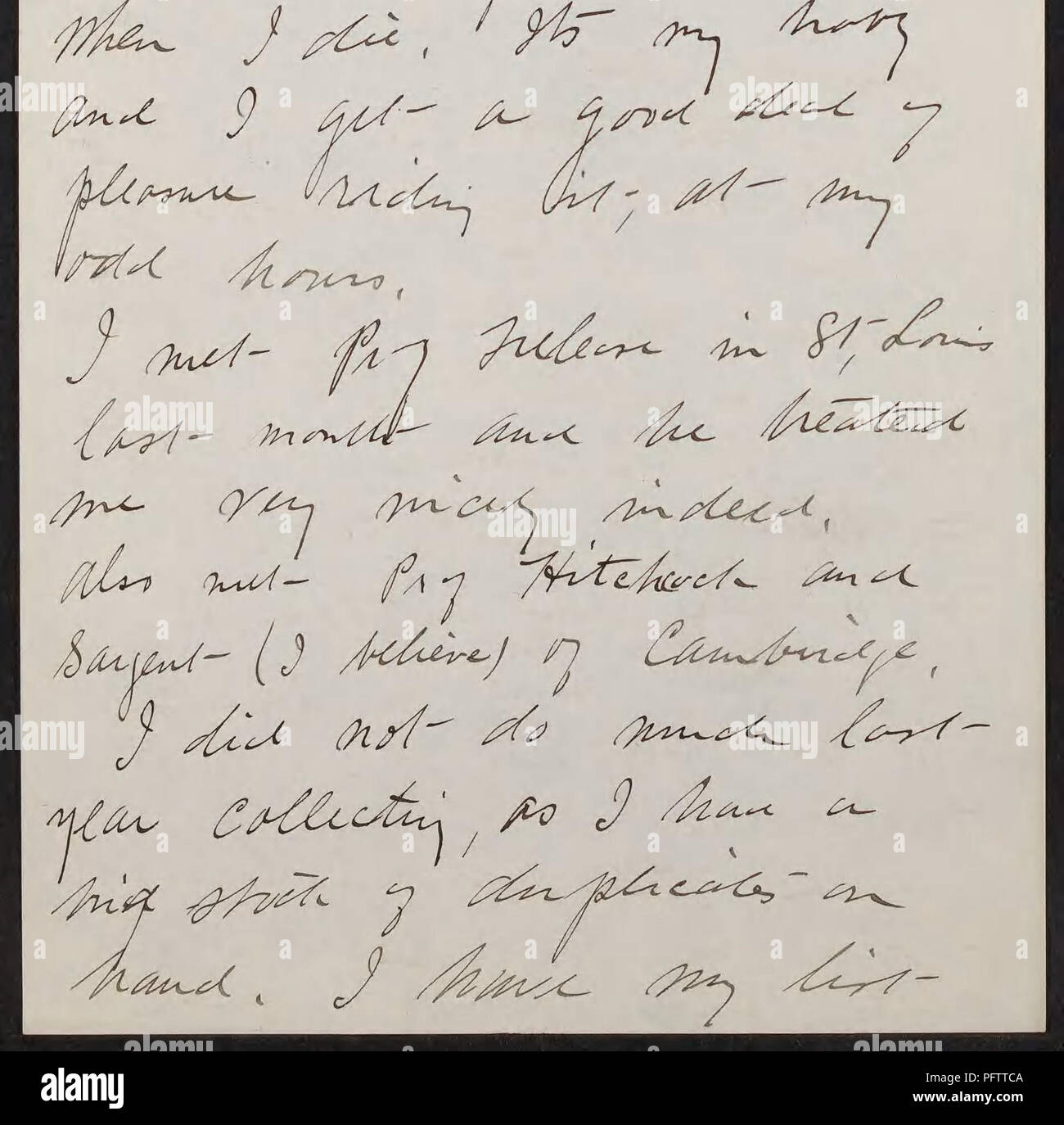 . Curtis Gates Lloyd letters to Walter Deane, 1883-1917 (inclusive). Correspondence; Lloyd, C. G. (Curtis Gates), 1859-1926; Deane, Walter, 1848-1930; Botanists. 1 (Cincinnati,0.. Please note that these images are extracted from scanned page images that may have been digitally enhanced for readability - coloration and appearance of these illustrations may not perfectly resemble the original work.. Lloyd, C. G. (Curtis Gates),1859-1926,correspondent; Deane, Walter,1848-1930,addressee. - Stock Image