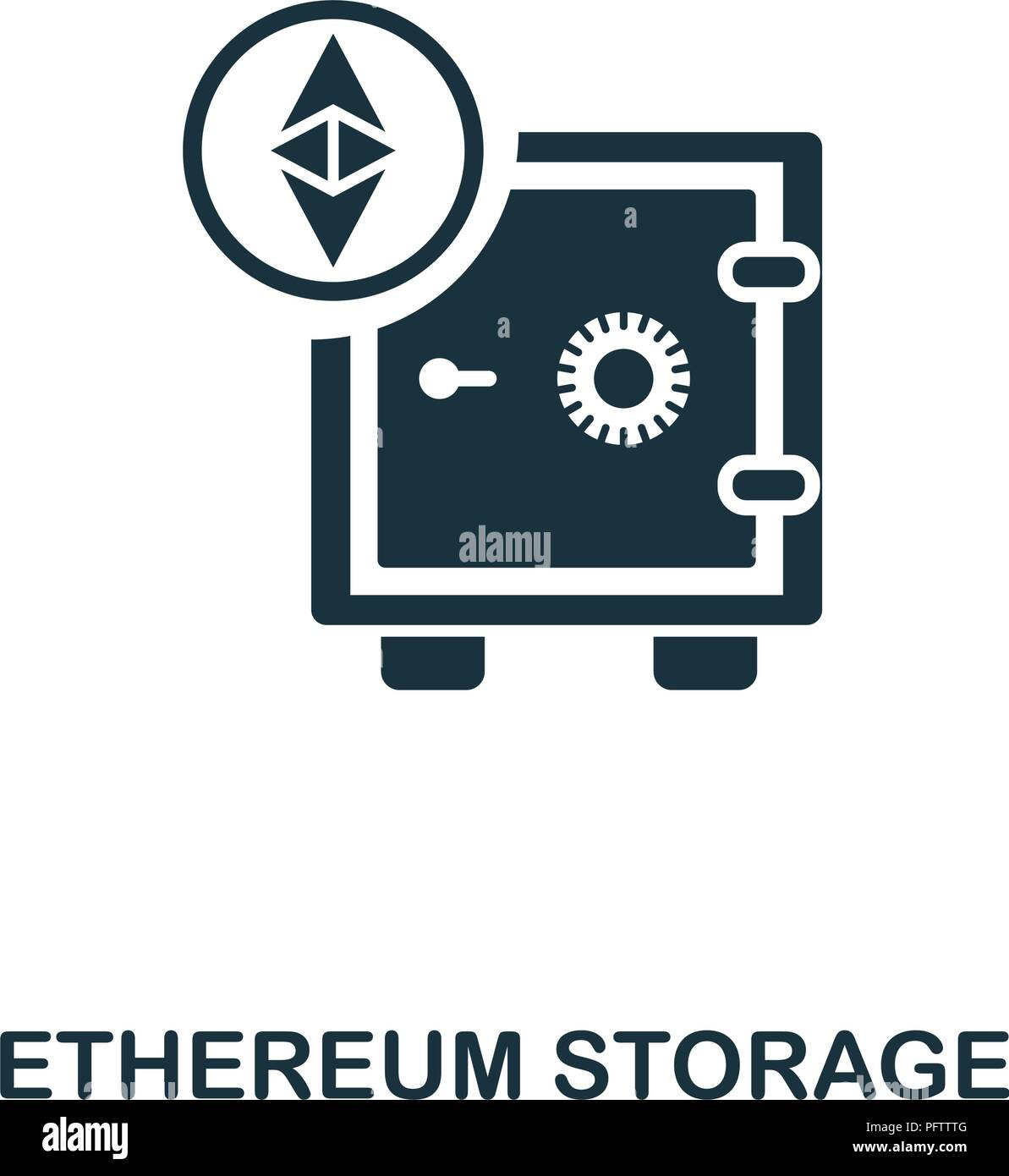Ethereum Storage icon. Monochrome style design from crypto currency collection. UI. Pixel perfect simple pictogram ethereum storage icon. Web design,  - Stock Vector