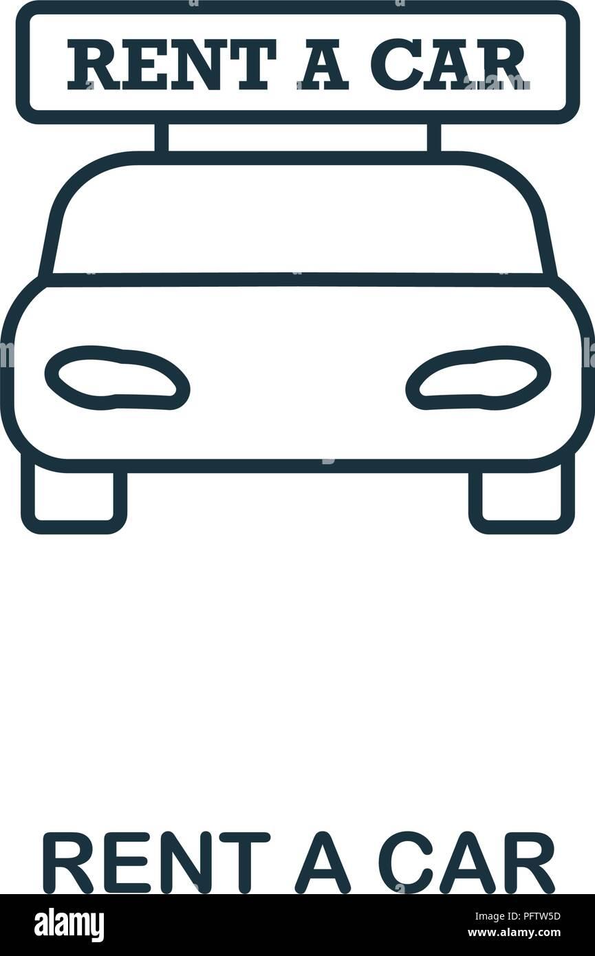 Rent A Car Creative Icon Simple Element Illustration Rent A Car
