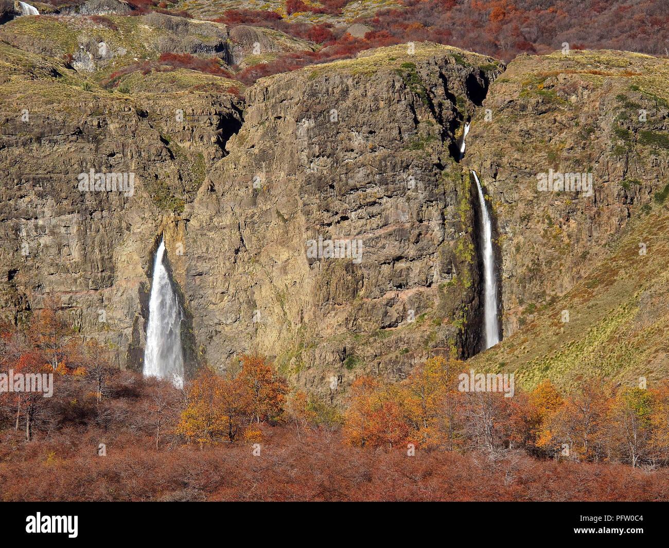 landscape in the Mapuche area - Stock Image