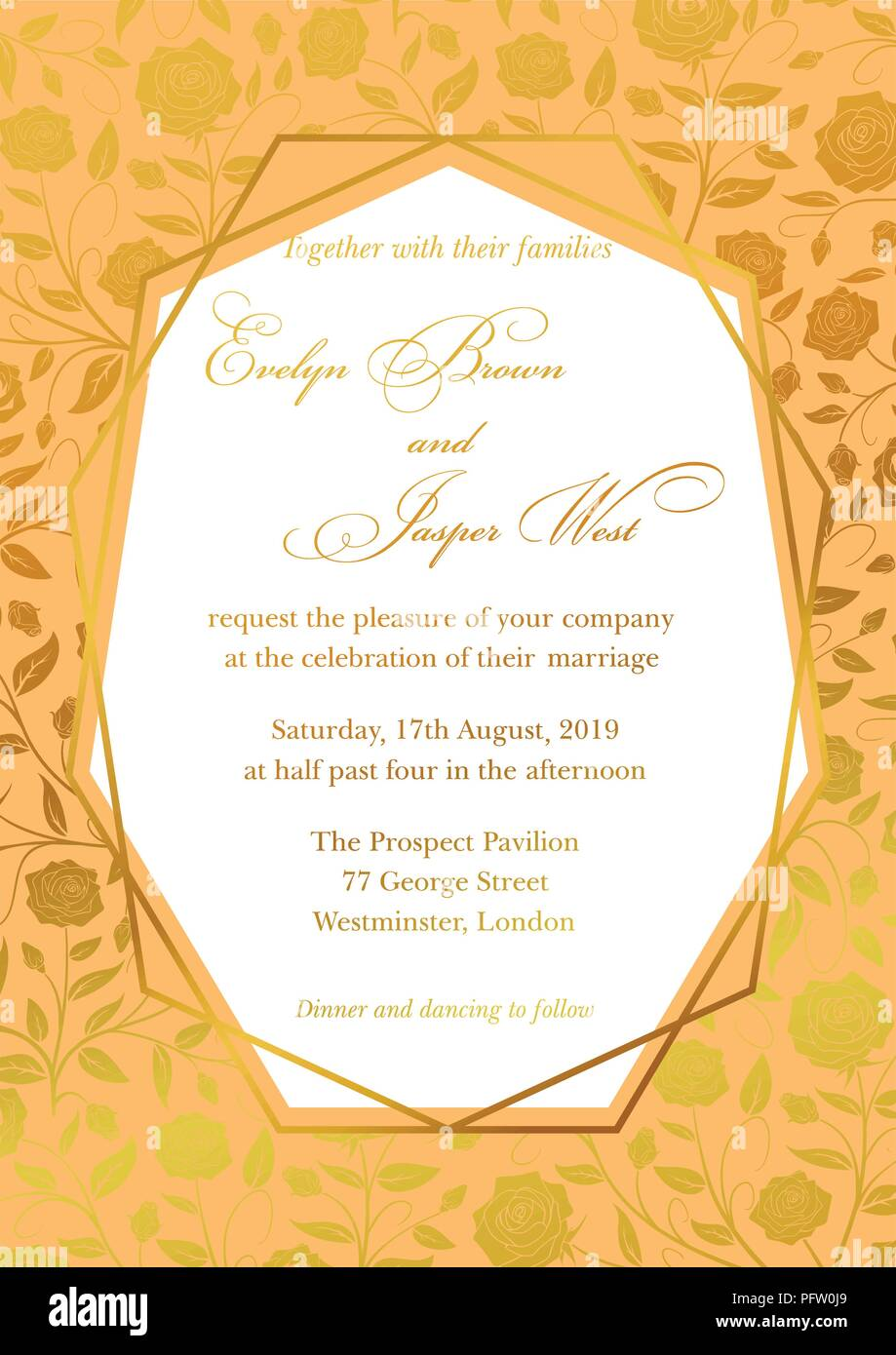 Royal Invitation Stock Vector Images - Alamy