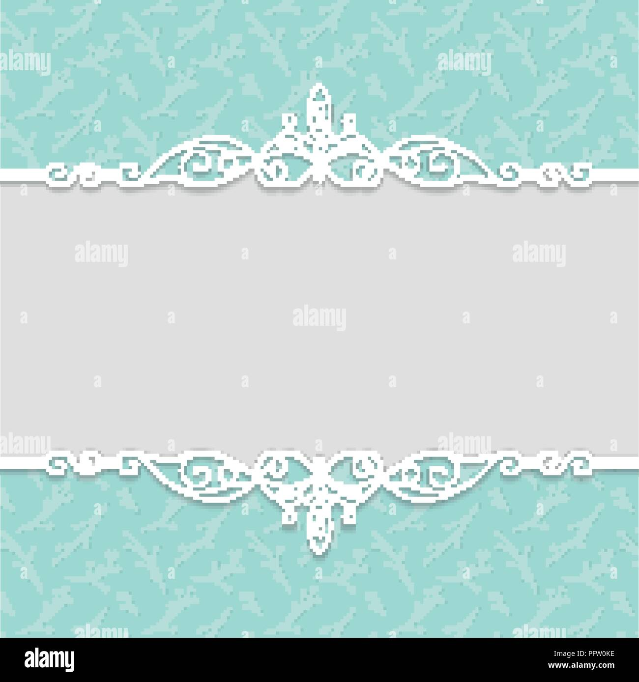 Vector elegant frame in turquoise colors for wedding invitations ...