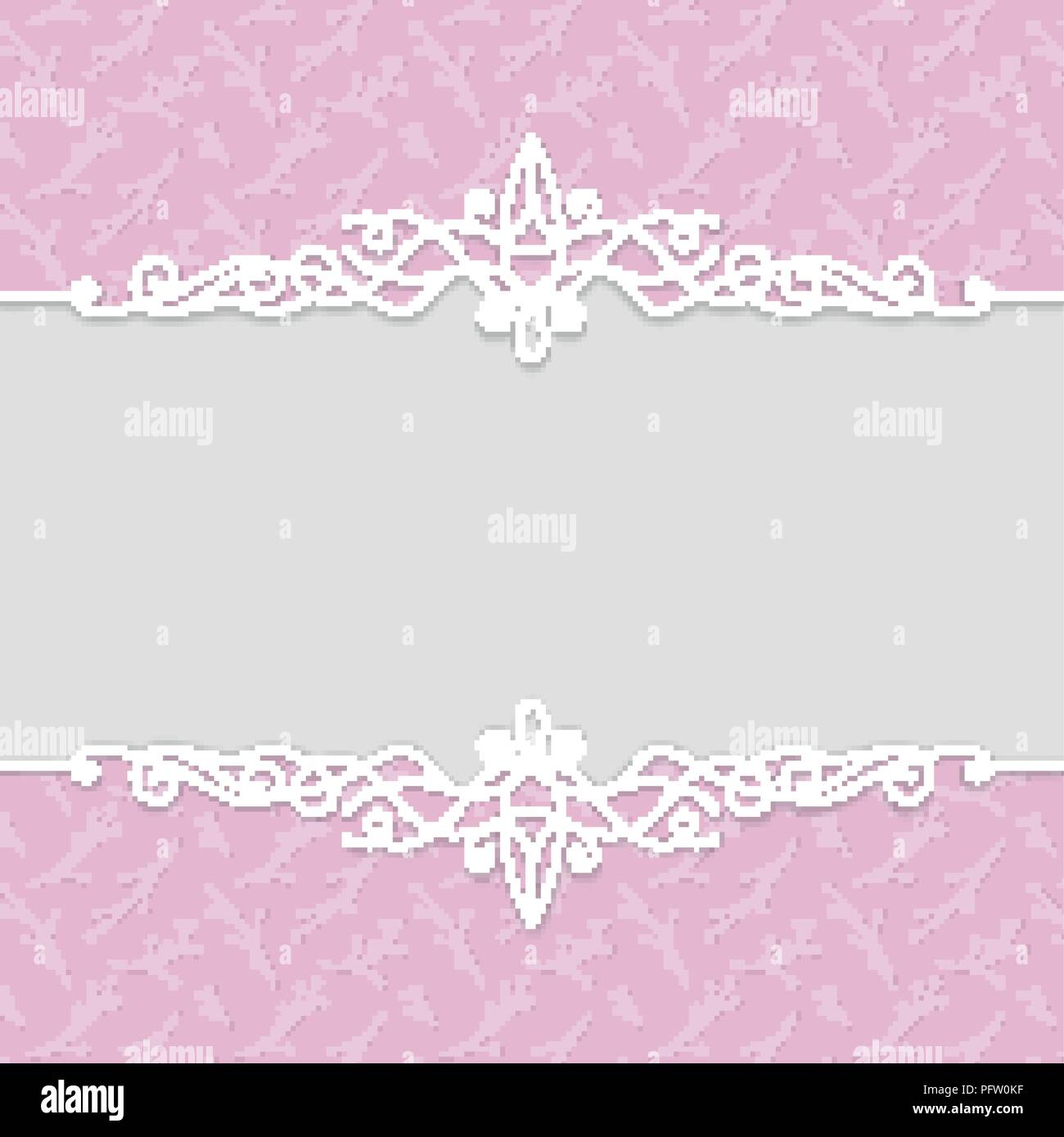 Vector Delicate Frame In Pink Colors For Wedding Invitations