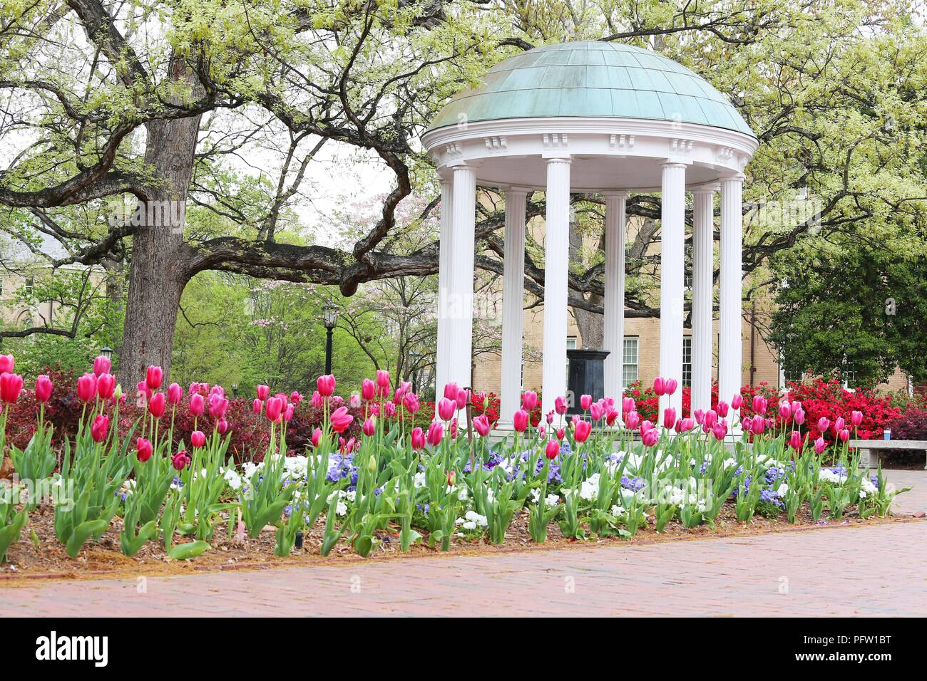 The old well, Historical landmark in Chapel Hill, North Carolina - Stock Image
