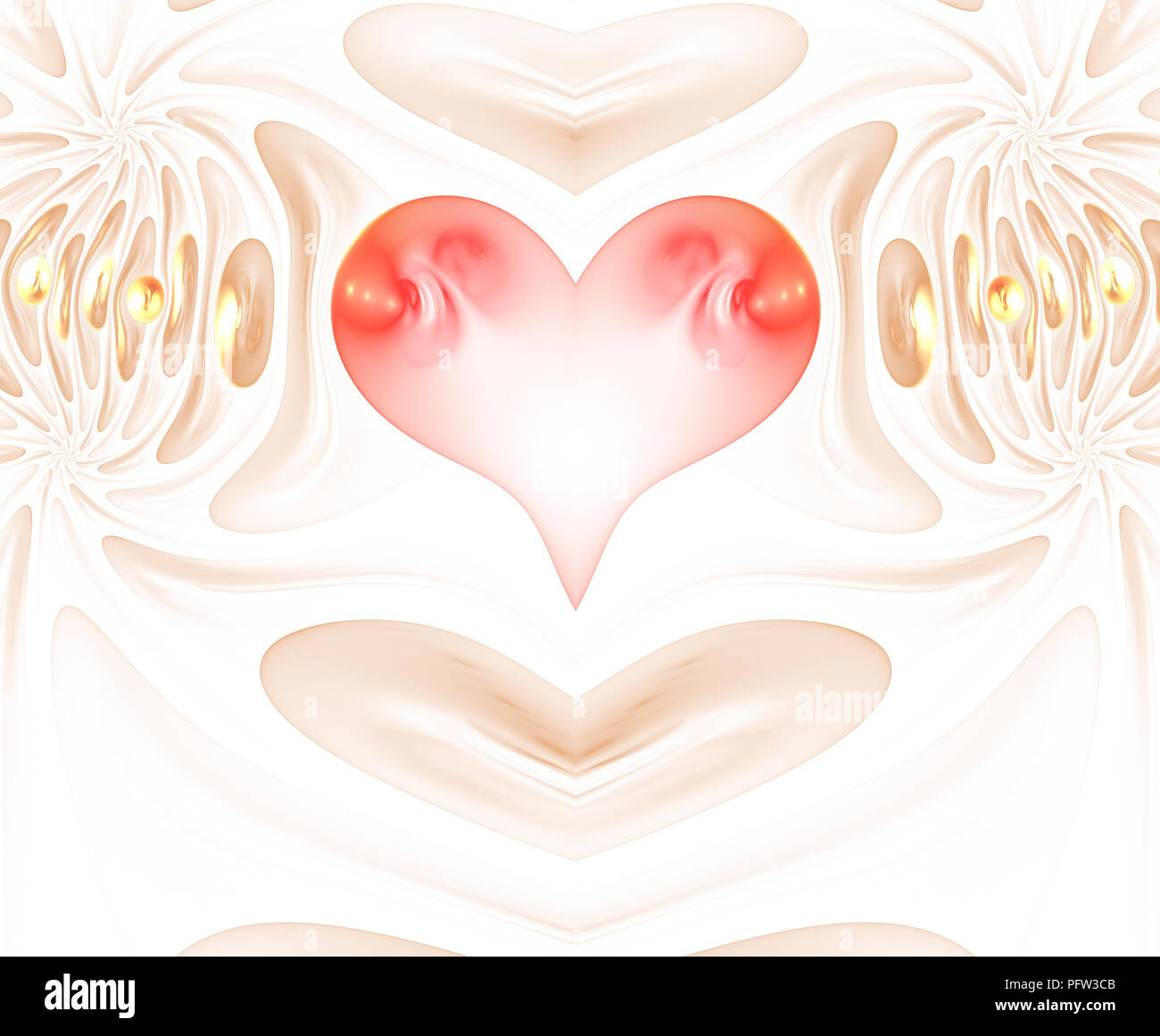 Burning And Beating Heart Valentine S Day Background An Abstract Computer Generated Modern Fractal Design On Dark Background Abstract Fractal Color Stock Photo Alamy