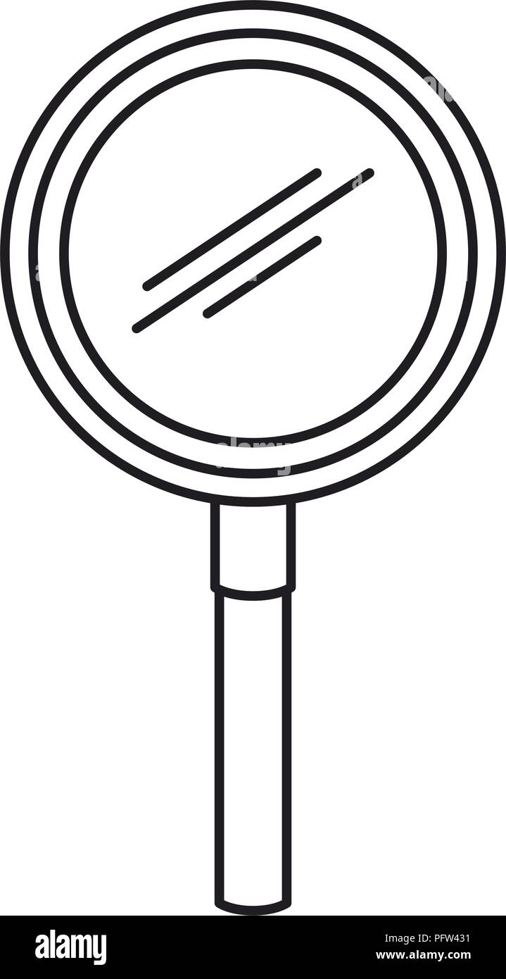 magnifying glass search icon - Stock Vector