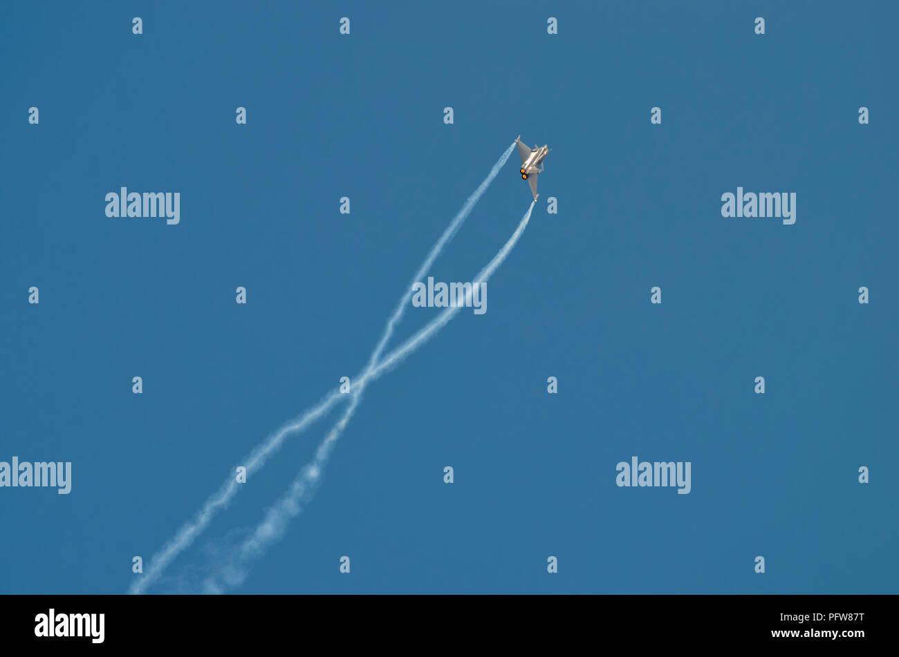 Dassault Rafale Aerobatics - Stock Image
