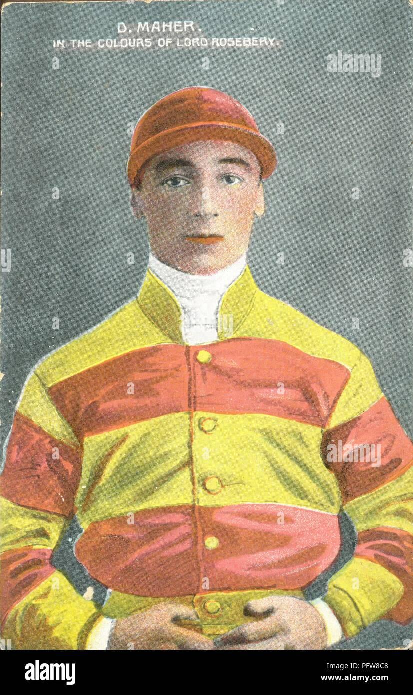 Daniel Maher Top US Jockey 1898 and Top flat racing jockey 1908 and 1913 Stock Photo