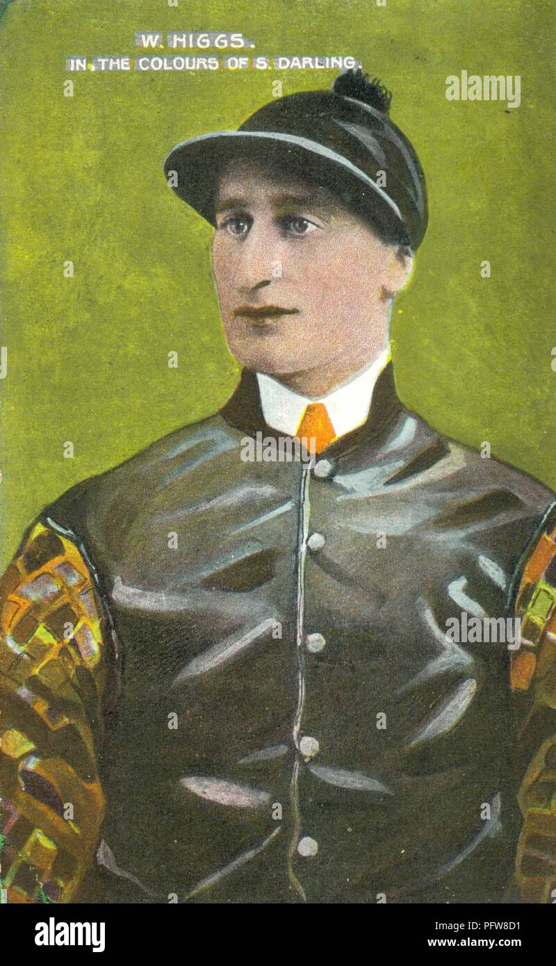 Portrait of jockey Billy Higgs 1880-1958 Stock Photo