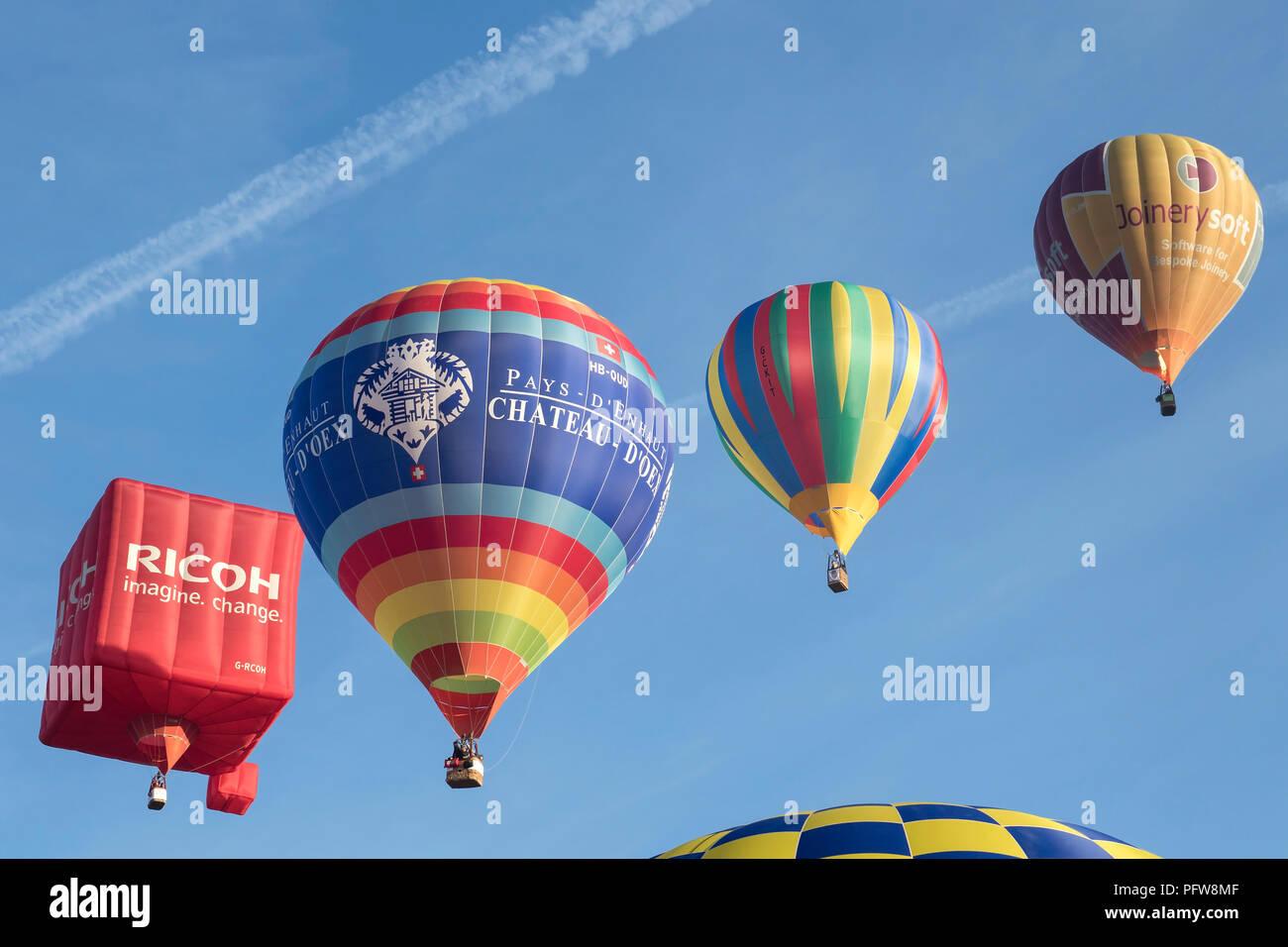 Bristol International Balloon Fiesta 2018 at Ashton Court Estate, Bristol England Stock Photo