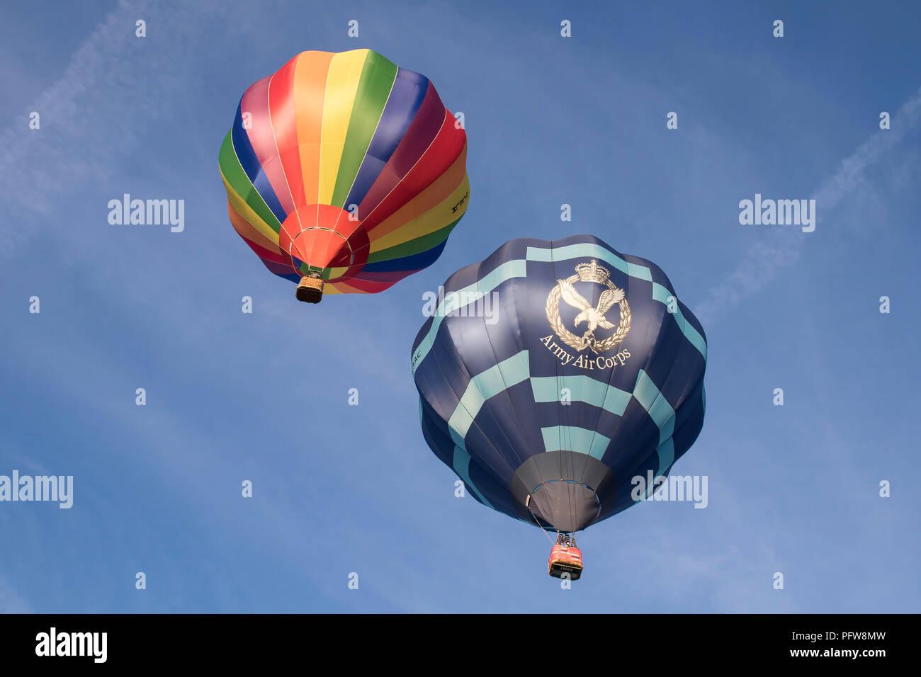 G-LAAC Cameron C-90 at Bristol International Balloon Fiesta 2018 at Ashton Court Estate, Bristol England - Stock Image