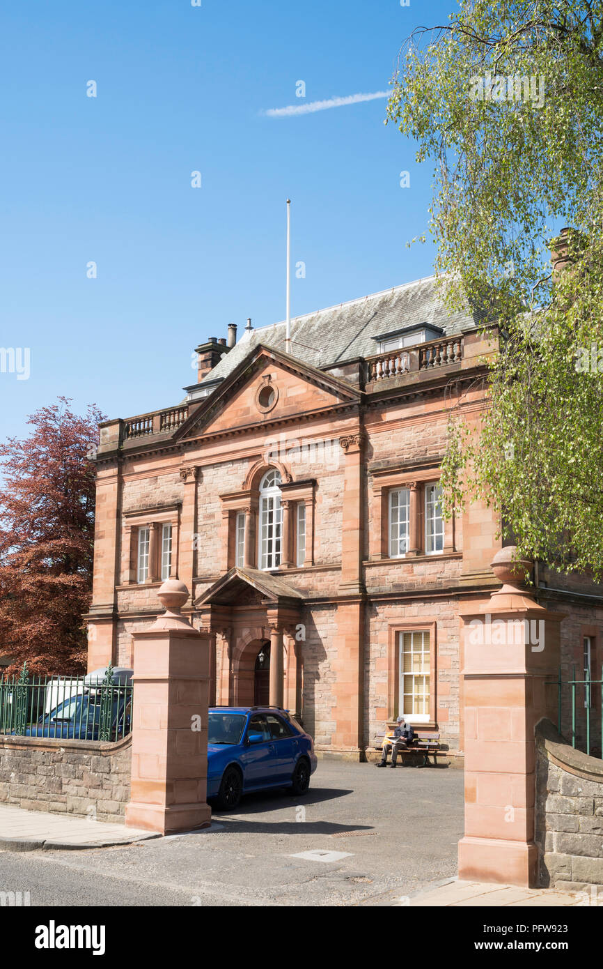 Victoria Halls, Selkirk, Scottish Borders, Scotland, UK - Stock Image