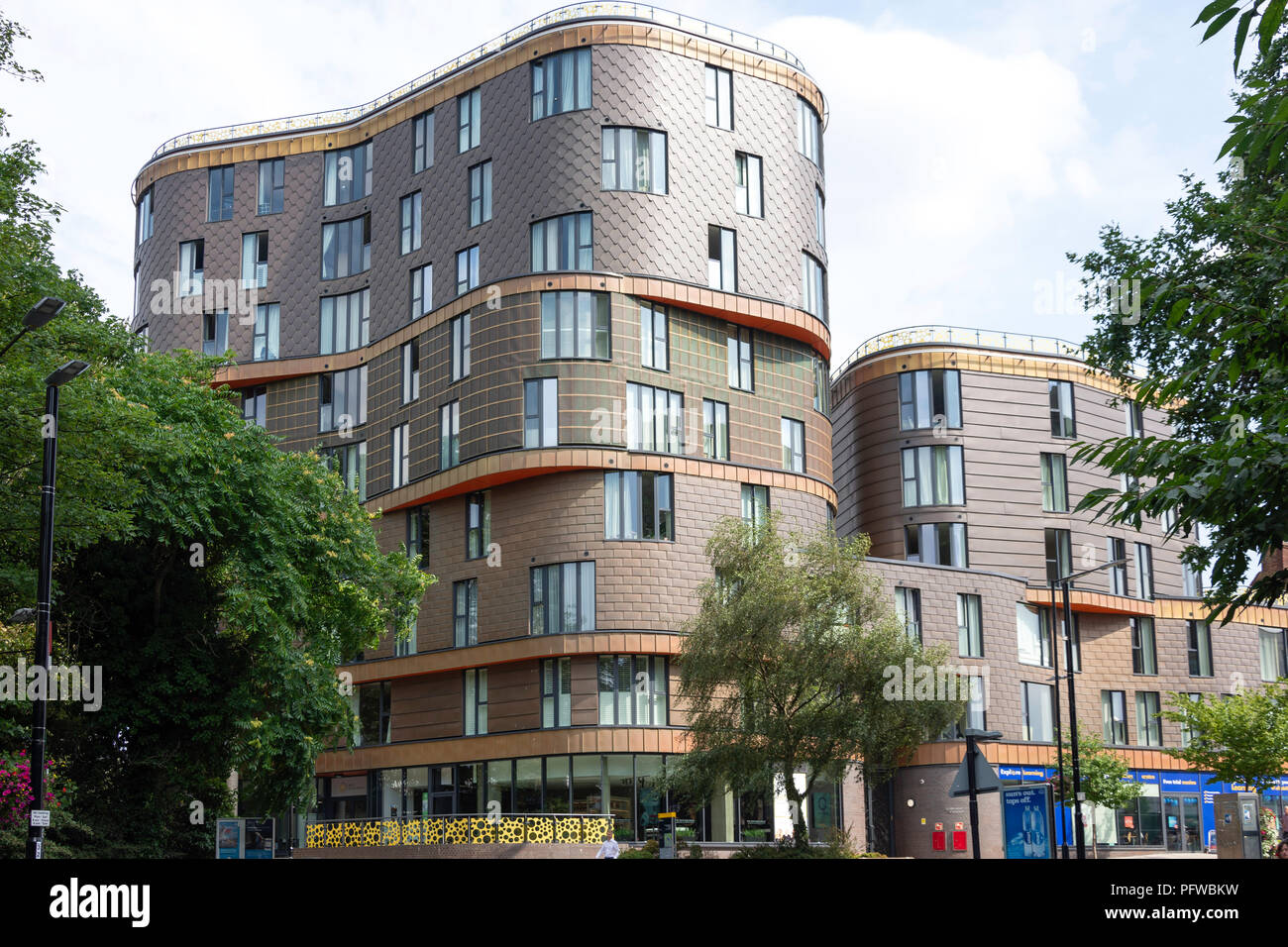 The Fold Apartments, Station Road, Sidcup, London Borough of Bexley, Greater London, England, United Kingdom - Stock Image