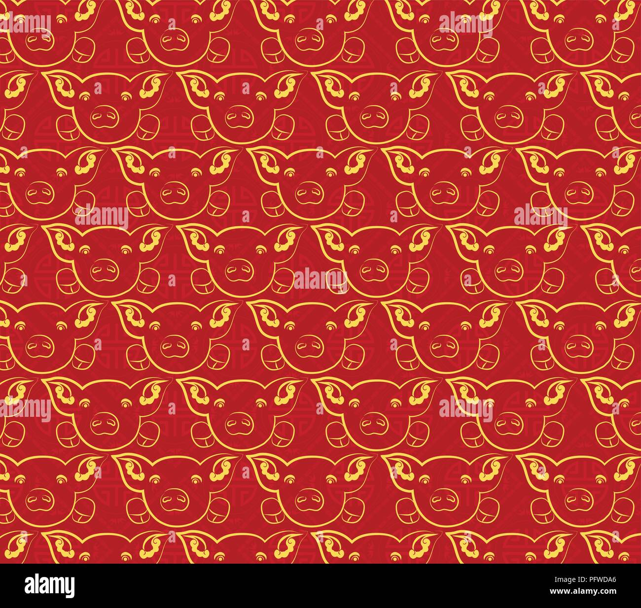 Chinese new year pattern background year of the pig
