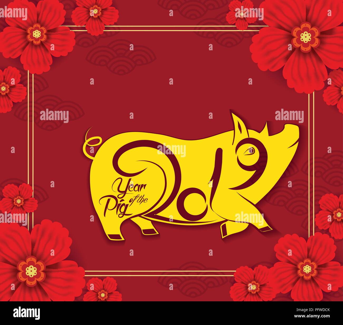 2019 chinese new year calendar year of the pig