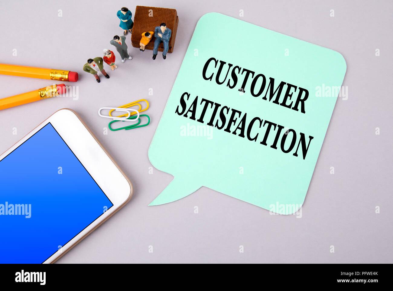 customer satisfaction concept - Stock Image