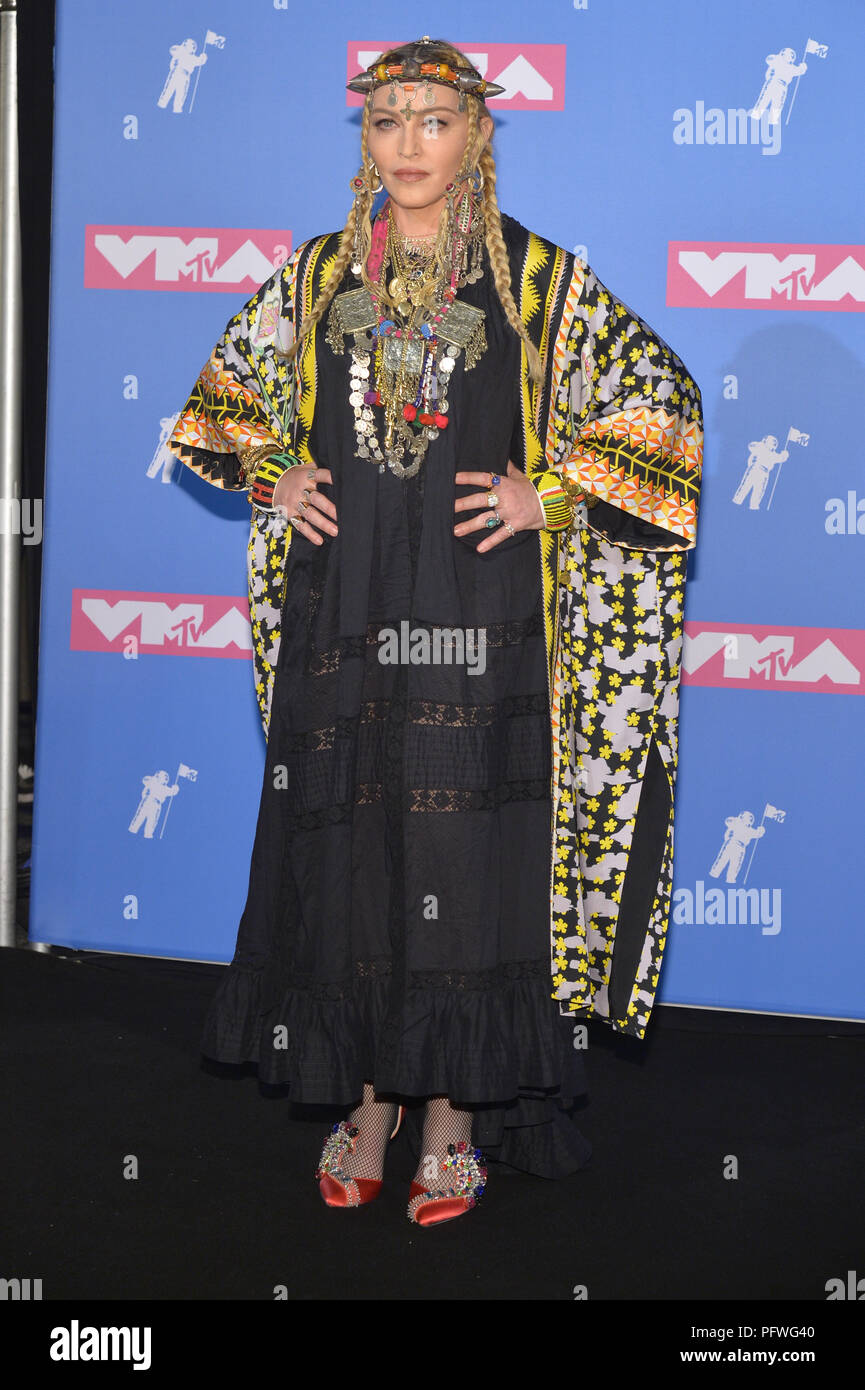 Madonna Attends The 2018 Mtv Video Music Awards At Radio City Music Hall On August 20 2018 In New York City Stock Photo Alamy