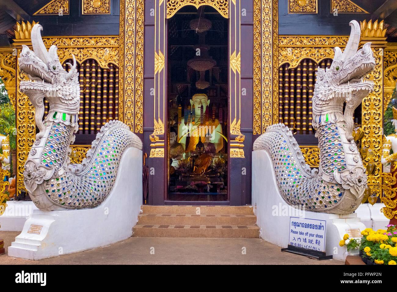 Wat Inthakhin Saduemuang (also called Wat Sadue Muang),  Chiang Mai, Thailand - Stock Image