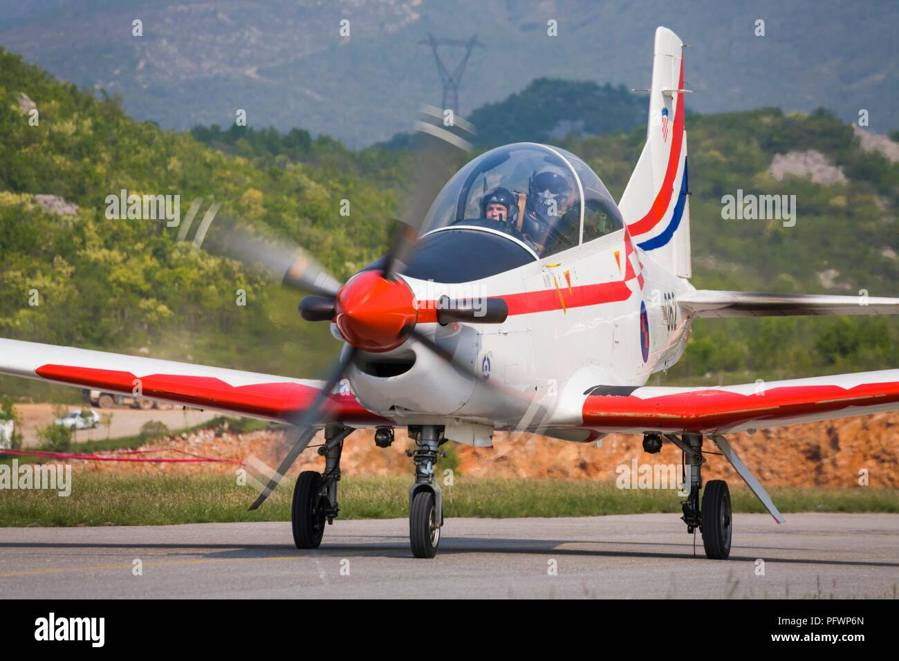 Krila oluje aerobatic group from Croatia Pilatus PC-9M PC9M PC9 2006 Grobnik near RijekaStock Photo