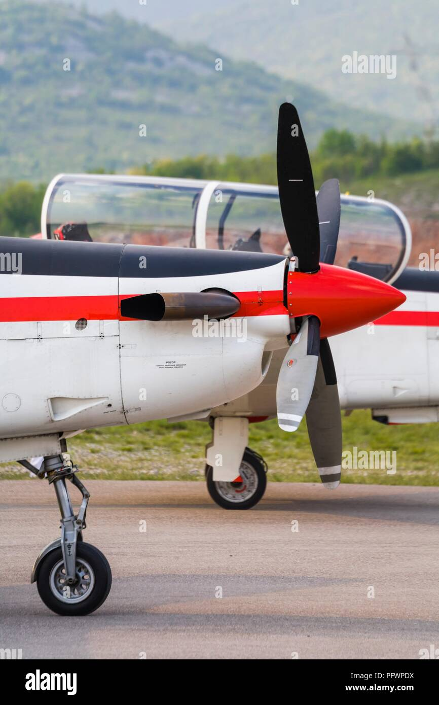 Krila oluje aerobatic group from Croatia Pilatus PC-9M PC9M PC9 2006 Grobnik near Rijeka - Stock Image