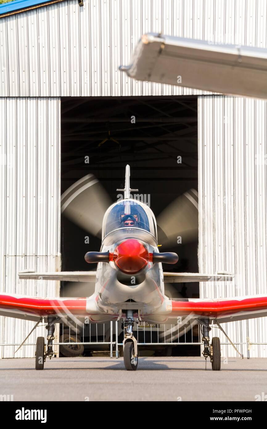 Krila oluje aerobatic group from Croatia Pilatus PC-9M PC9M PC9 2006 Grobnik near RijekaStock Photo