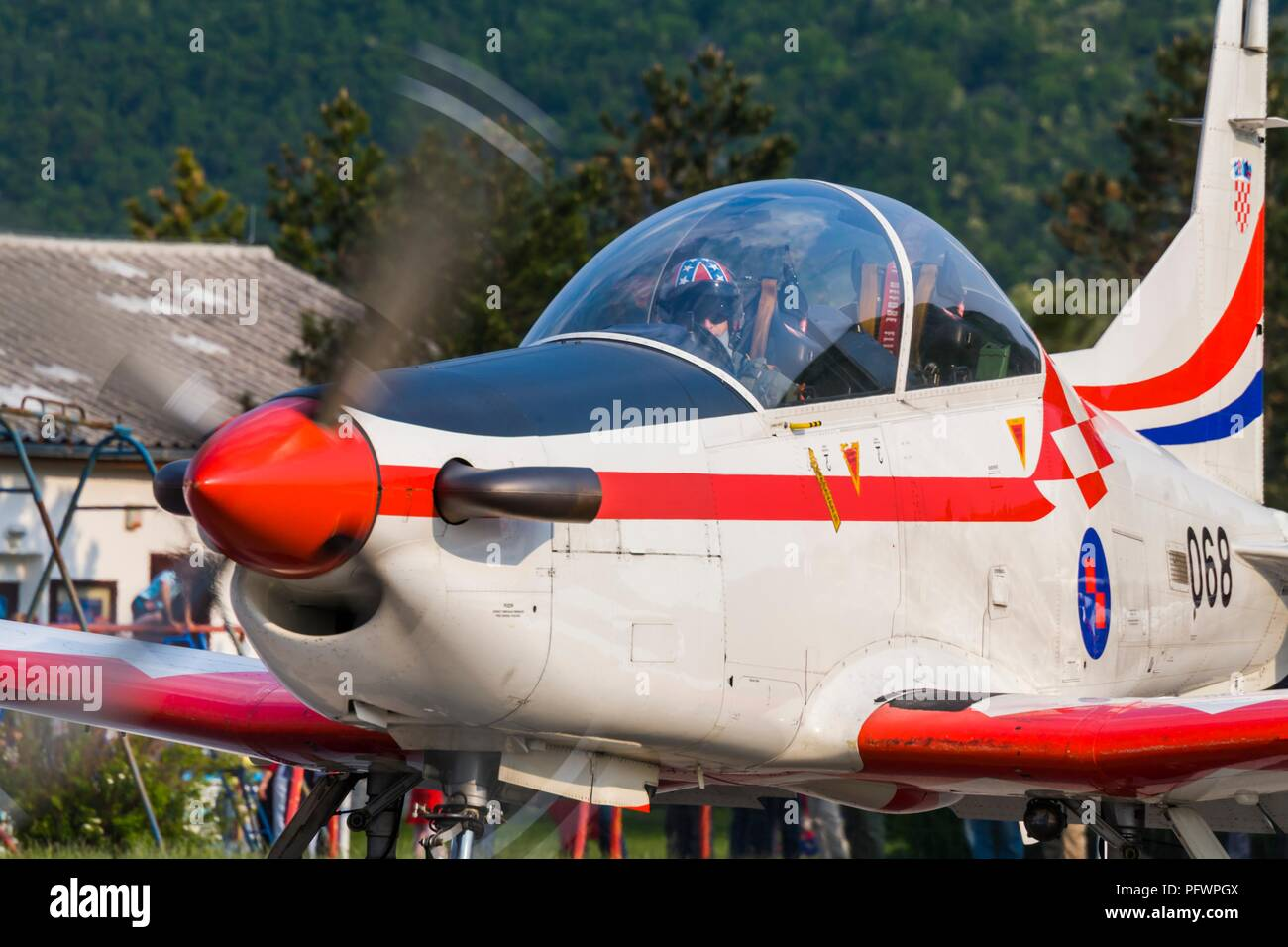 Krila oluje aerobatic group from Croatia Pilatus PC-9M PC9M PC9 2006 Grobnik near Rijeka Stock Photo