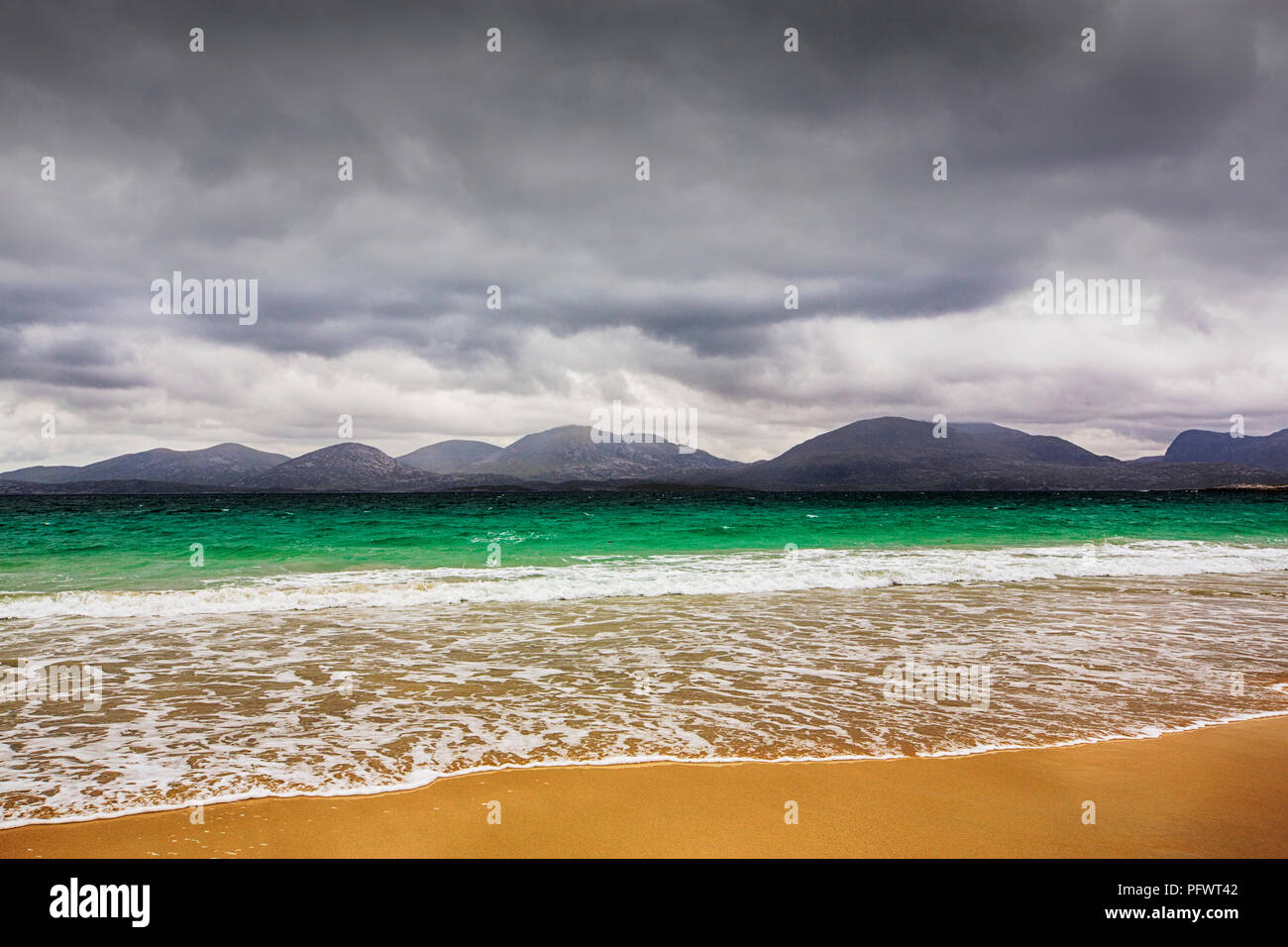 The famous Luskentyre Beach on the Isle of Harris, Outer Hebrides, Scotland, UK. - Stock Image