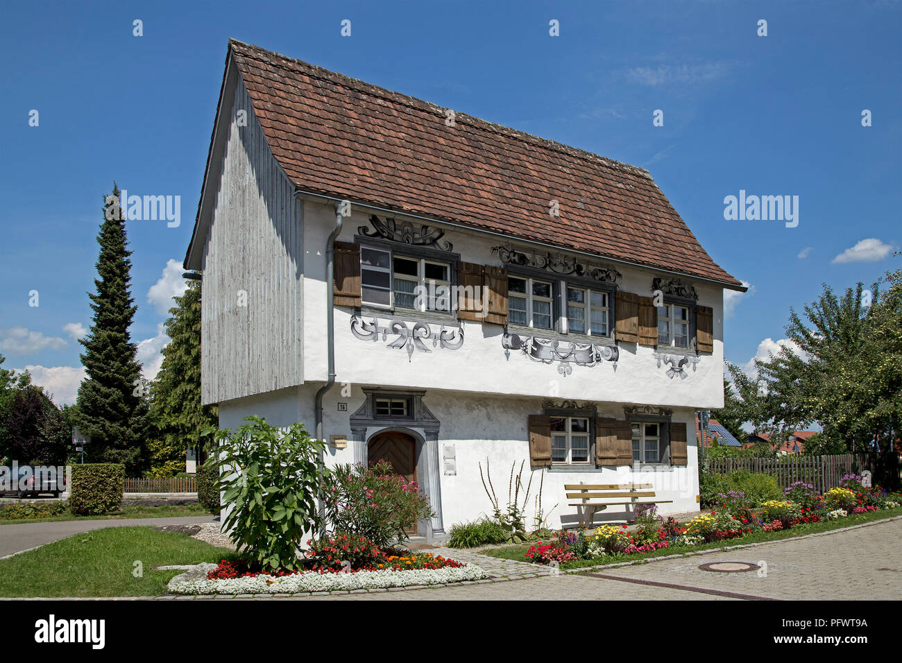 Gartenhaus (detached house), Isny, Allgaeu, Baden-Wuerttemberg, Germany Stock Photo