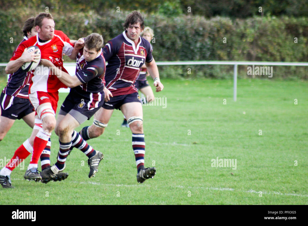 Old Pats RFC verses Barnstaple RFC - Stock Image