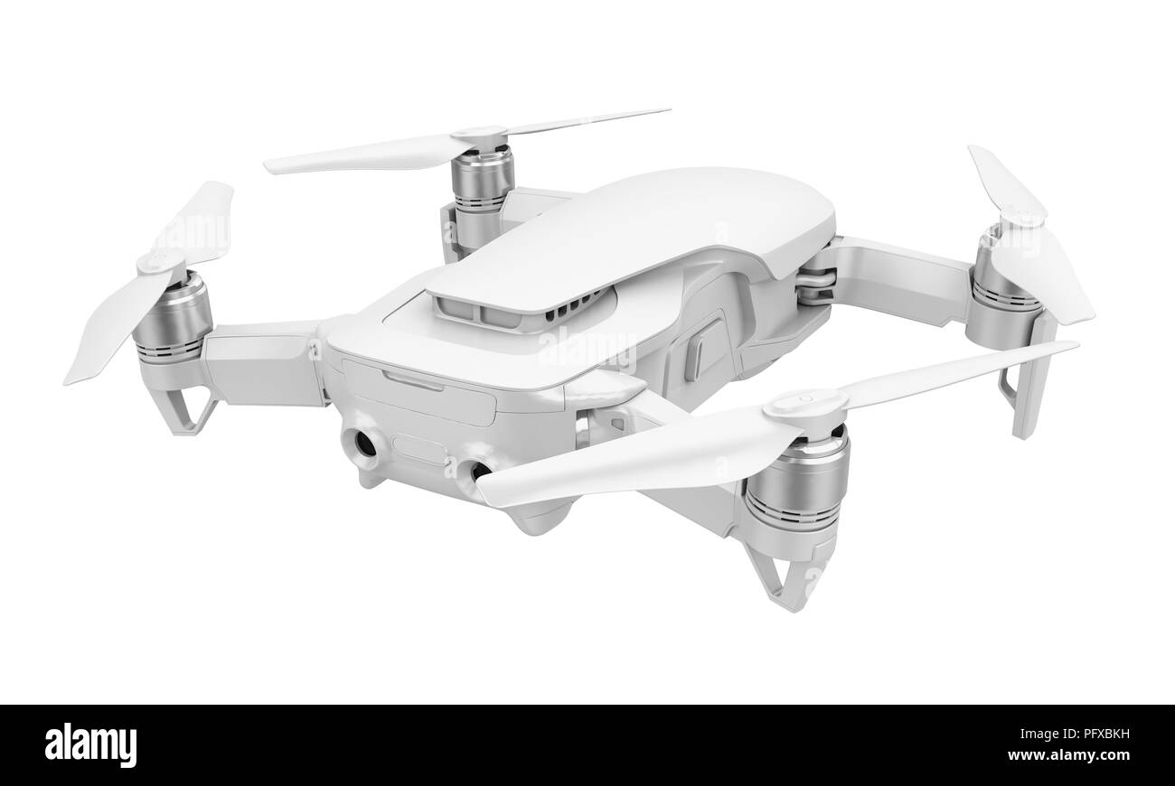 Drone Quadcopter Isolated - Stock Image
