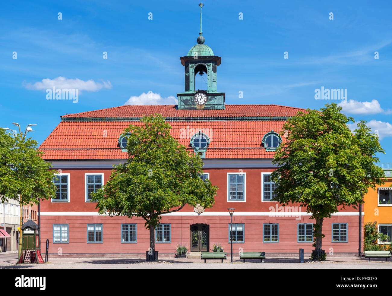 Town Hall in the Main Square (Stora Torget), Sala, Västmanland, Sweden - Stock Image