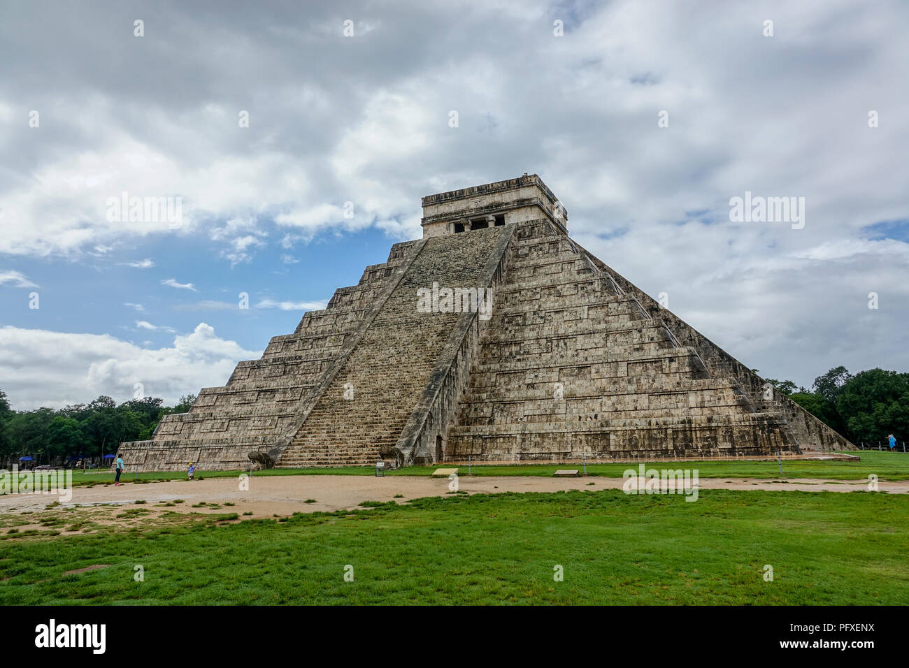 Chichen Itza on a summer day - Stock Image