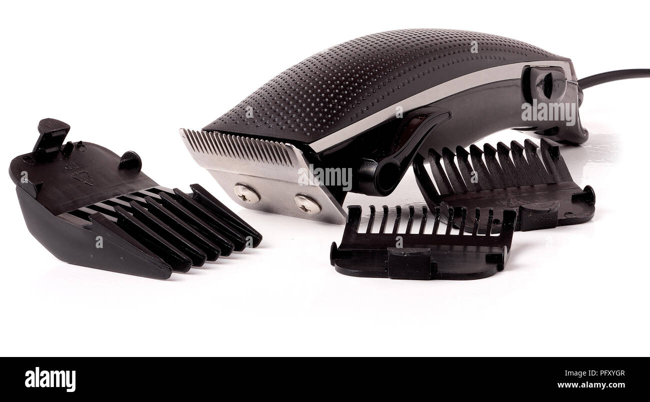 hair clipper isolated on white background - Stock Image