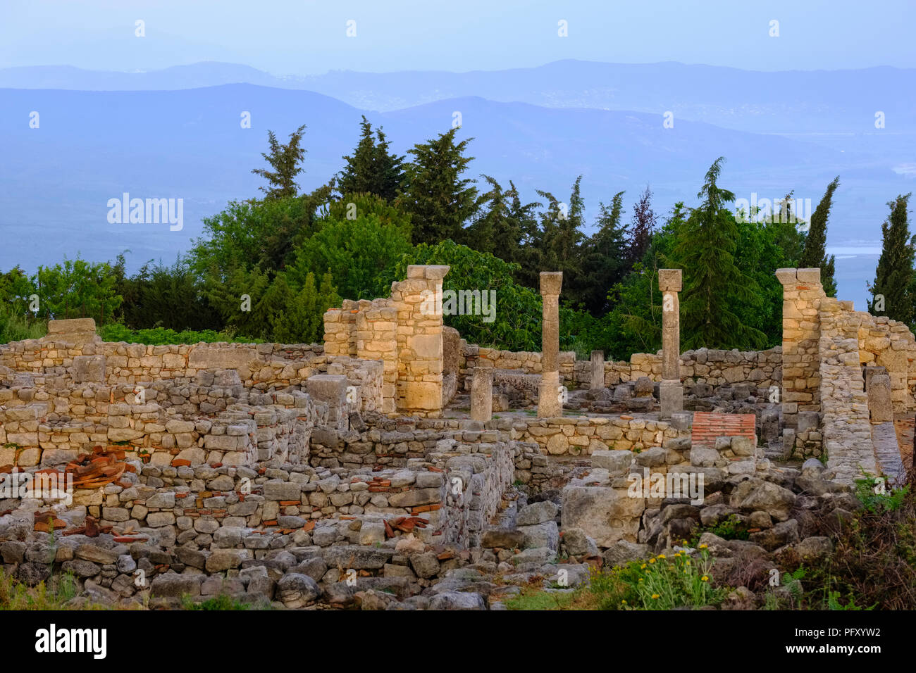 Ancient city Byllis, Qarier Fier, Albania - Stock Image