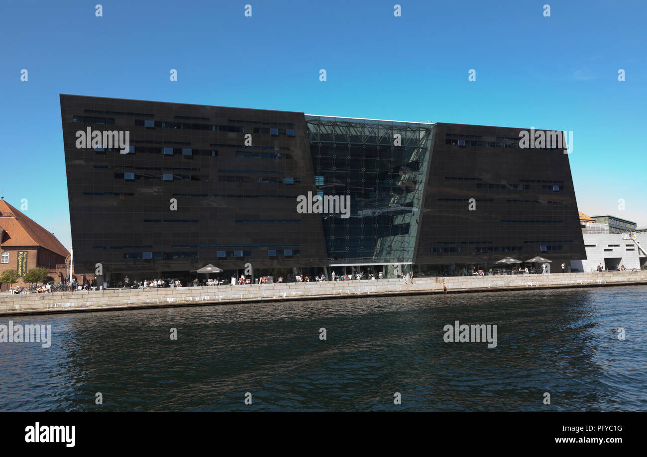 The Black Diamond, the Royal Library in Copenhagen, Denmark Stock Photo
