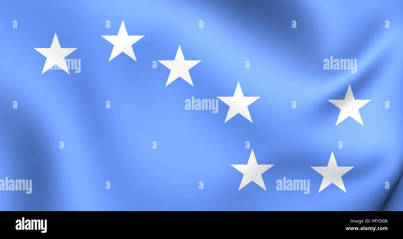 3D Starry Plough Flag. 3D Illustration. Stock Photo