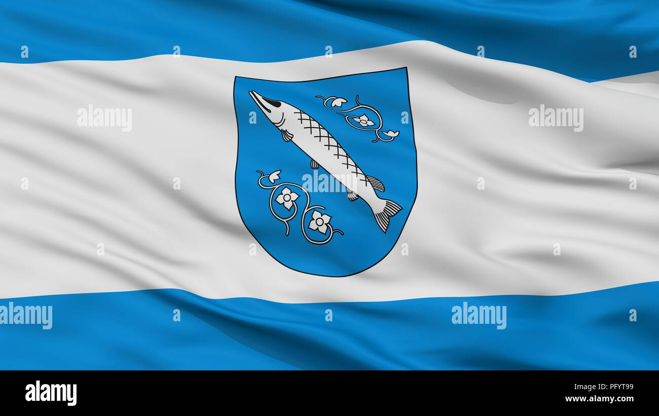 Rybnik City Flag, Poland, Closeup View - Stock Image