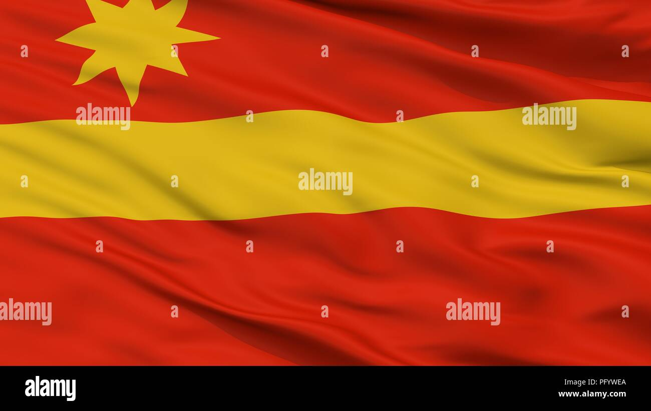Toa Alta City Flag, Puerto Rico, Closeup View - Stock Image