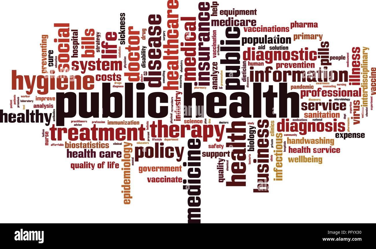 Public health word cloud concept. Vector illustration - Stock Vector