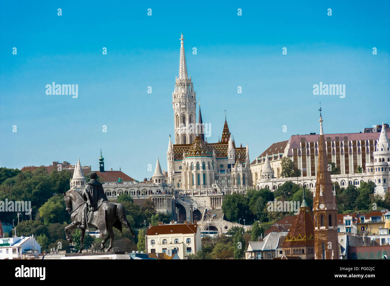 Matthias Church Budapest Stock Photo