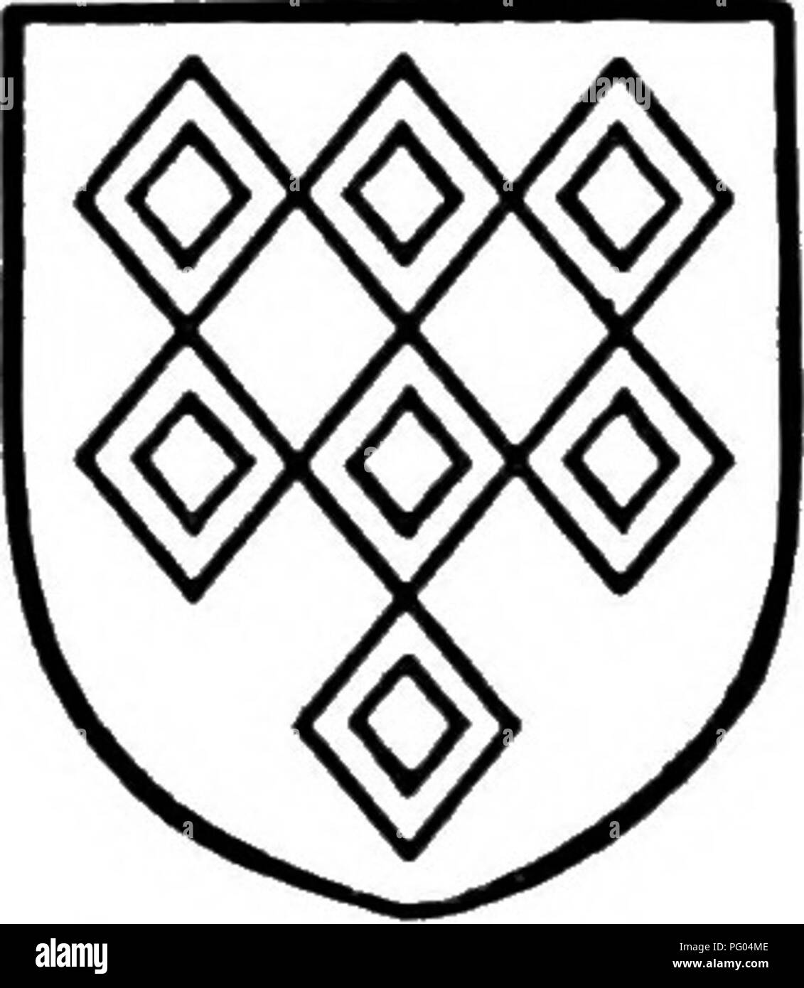 ". The Victoria history of the county of Bedford. Natural history. Spigurnel. Gules fretty argent a chief or •with a lion passant gules therein. Braybroke. seven voided gules. Argent lozenges In 1359, on the death of Sir Gerard Braybroke, the manor passed to his son Gerard,"" and it continued in the possession of the Braybroke family. At the death of Sir Gerard Braybroke in 1427 it passed to Sir William Babyngton, a justice of Common Pleas, one of the executors of Sir Gerard Braybroke's will."" Sir William Babyngton died seised of the manor in 1454, leaving a son and heir William,"" - Stock Image"