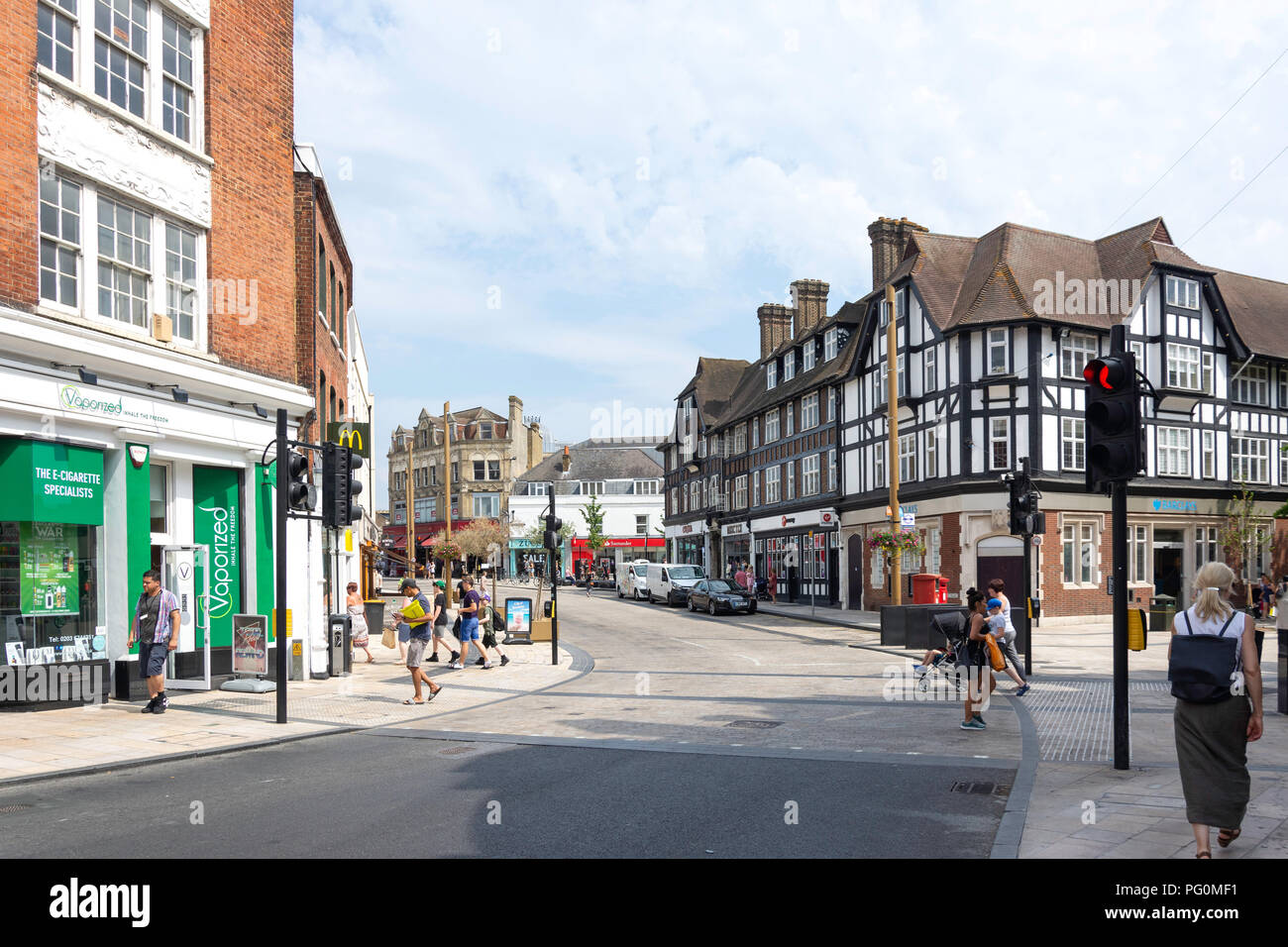 Market Square, High Street, Bromley, London Borough of Bromley, Greater London, England, United Kingdom - Stock Image