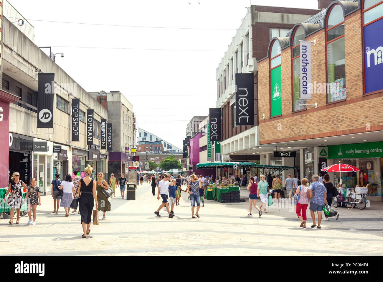 Pedestrianised High Street, Bromley, London Borough of Bromley, Greater London, England, United Kingdom - Stock Image