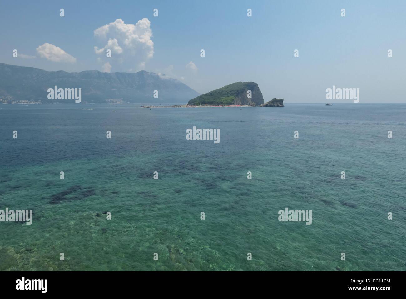 St Nicholas Island - Sveti Nikola Island - in the Southern Adriatic, Budva, Montenegro - Stock Image