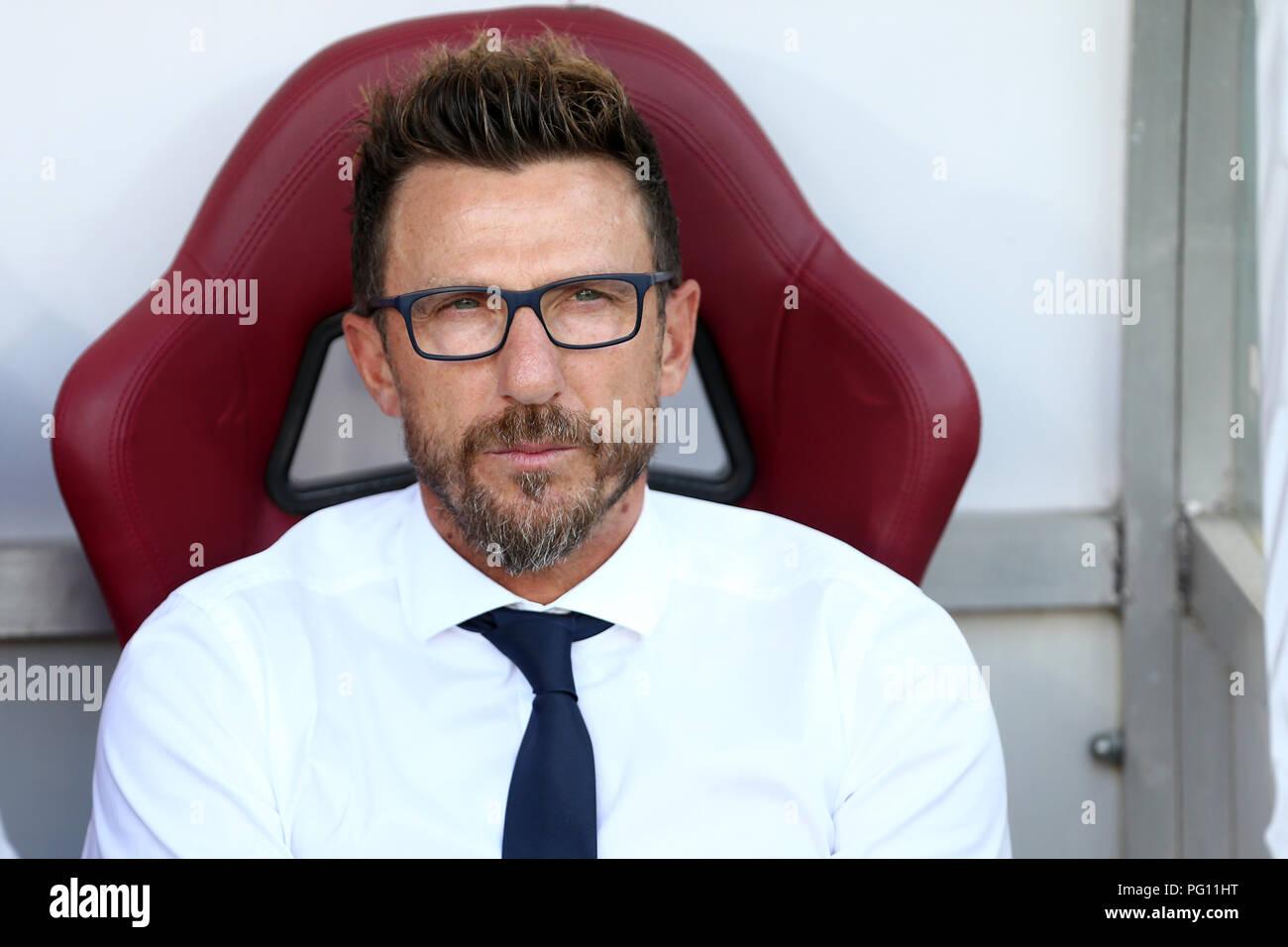 Eusebio Di Francesco, head coach of As Roma , looks on before the Serie A football match between Torino Fc and As Roma . Stock Photo