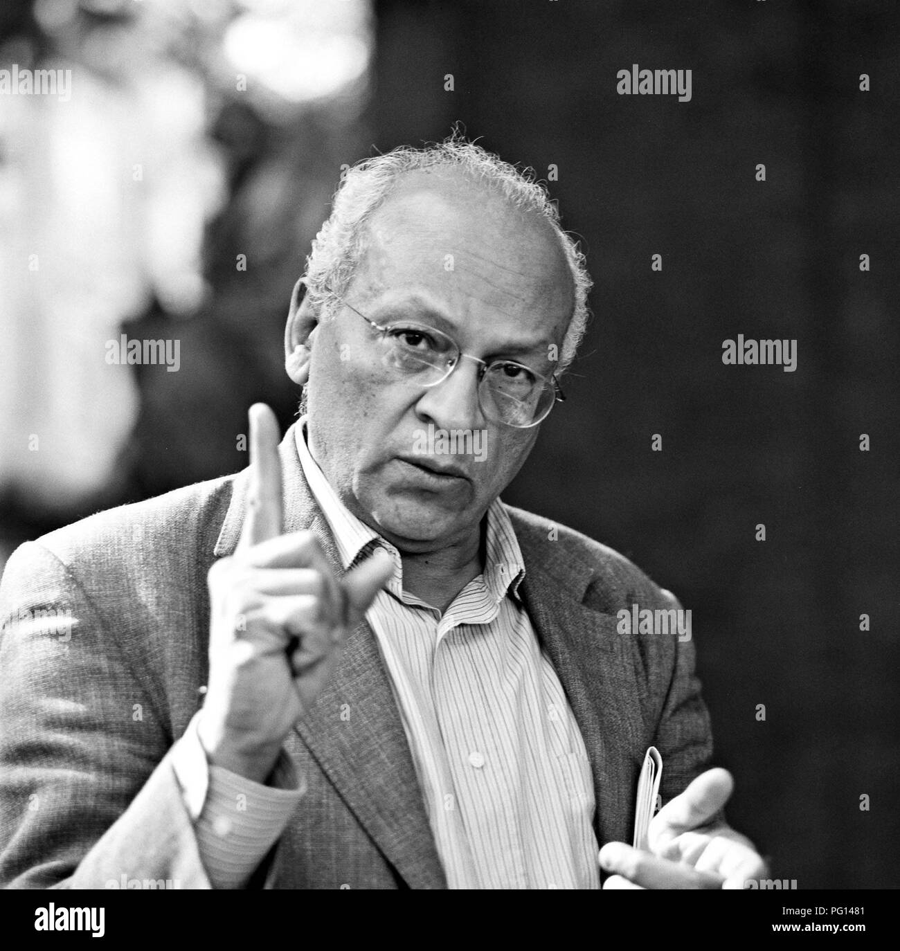 Gamal Al-Ghitani, of Egyptian writer. - Stock Image
