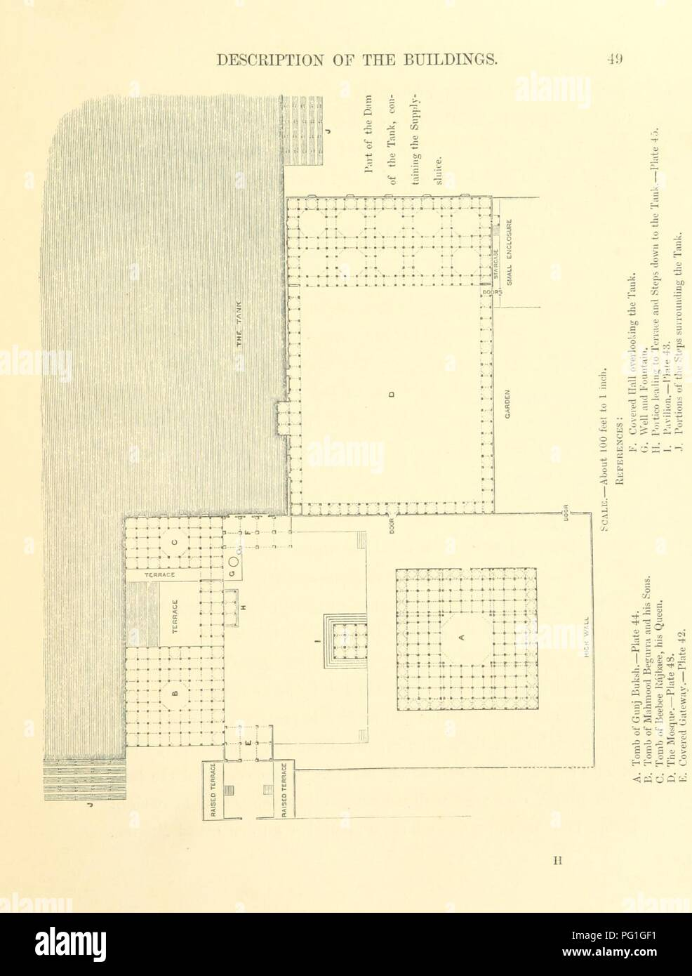 Image  from page 75 of 'Architecture at Ahmedabad, the Capital of Goozerat, photographed by Colonel Biggs, ... With an historical and descriptive sketch, by T. C. H., ... and architectural notes by J. Fergusson, etc' by The B0001. - Stock Image