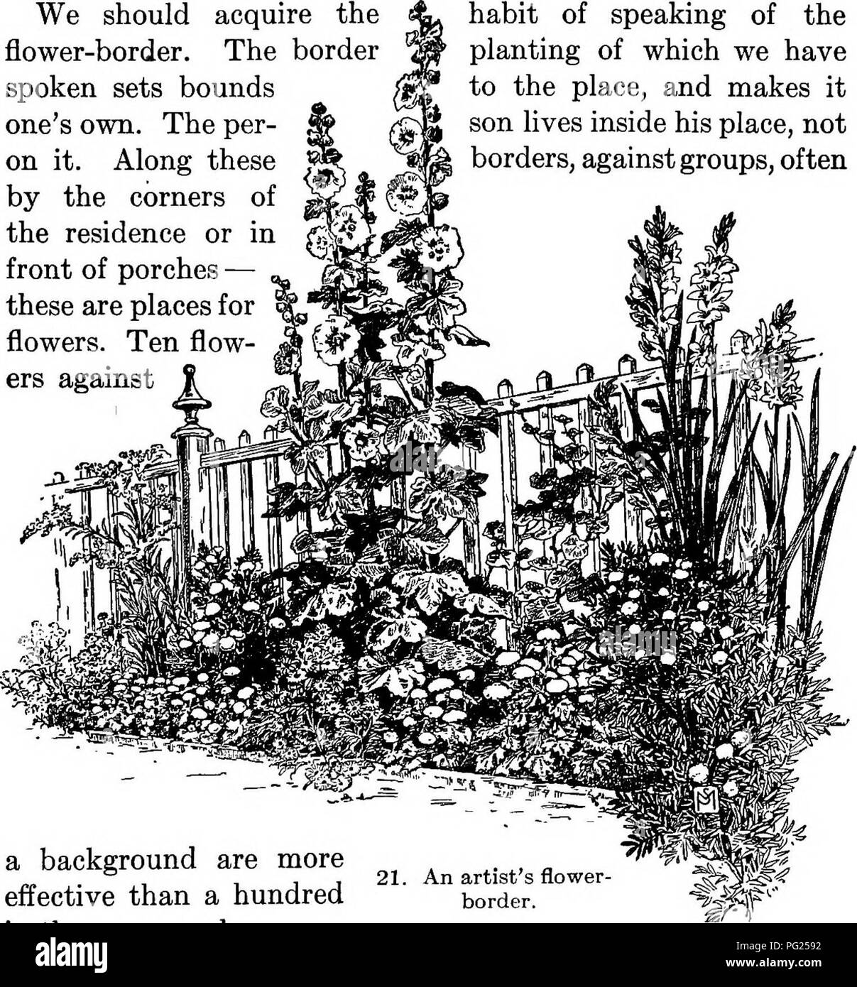 Flower borders black and white stock photos images alamy manual of gardening a practical guide to the making of home grounds and the mightylinksfo