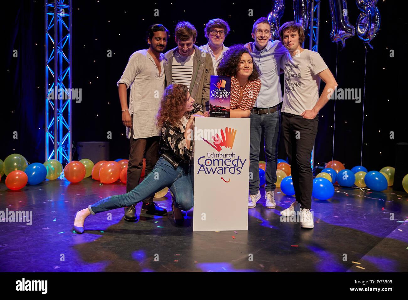 Edinburgh, UK. 23rd August 2018. Edinburgh Comedy Awards 2018. Credit: Andrew Eaton/Alamy Live News. - Stock Image